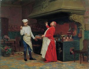 769px-Jehan_Georges_Vibert_-_The_Marvelous_Sauce,_ca._1890,_Albright-Knox_Art_Gallery
