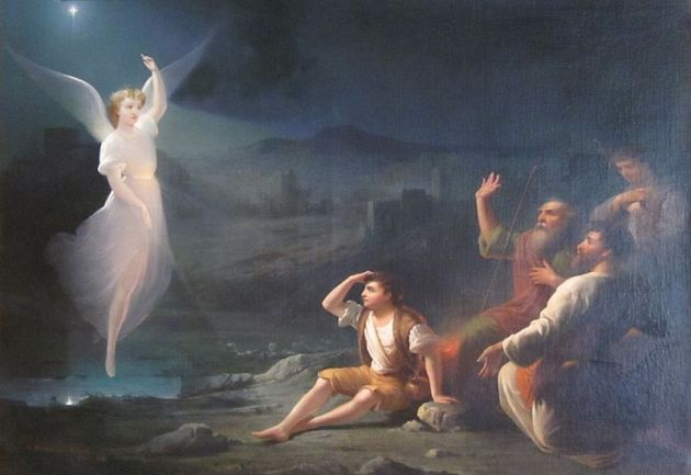 The Angel Appearing before the Shepherds by Thomas Buchanan Read (1822-1872)  Dayton Art Institute