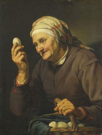 Old Woman Selling Eggs  Hendrick Bloemaert (1602-1672) Rijksmuseum Amsterdam